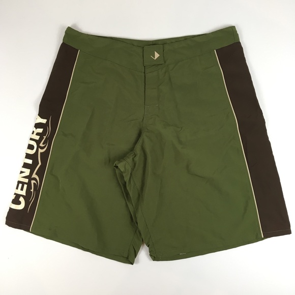Century Other - Century Fight Shorts MMA UFC Boxing Green Size 40